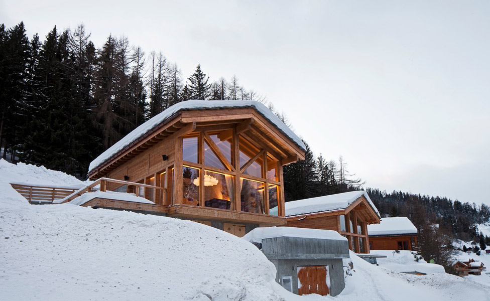 Newly Built Ski Chalet On Mountain Side Overlooking The Rhone Valley, Fully Equipped