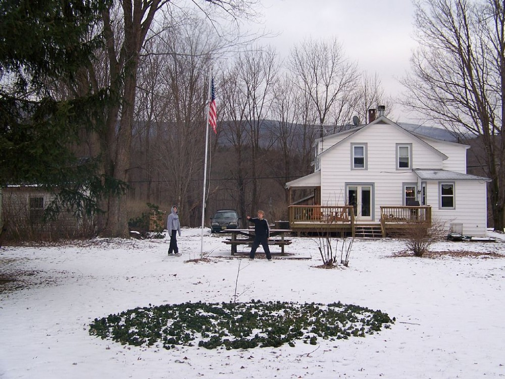 catskill vacation rental with House and back lawn