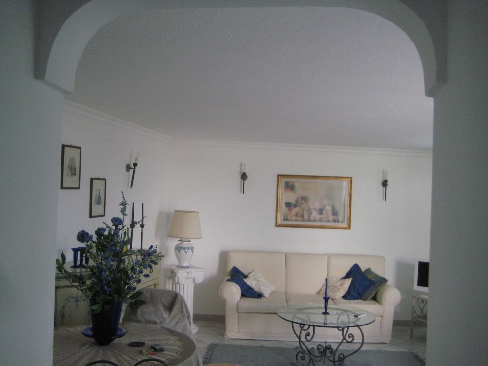 Capri vacation rental with living room detail
