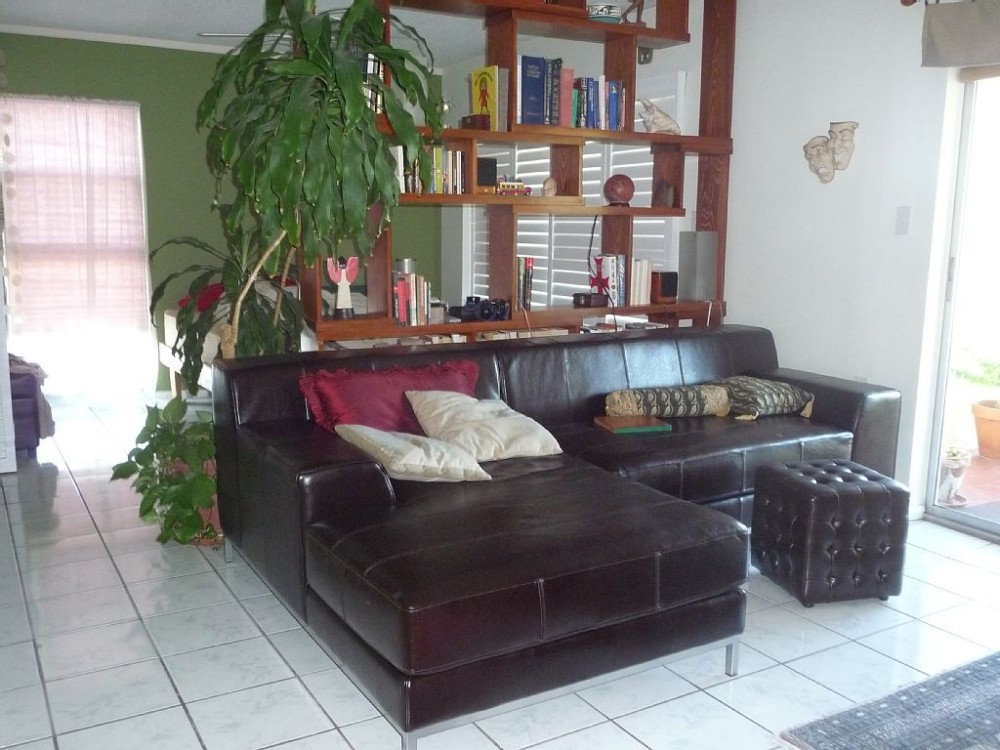 st pete beach vacation rental with Living room with view to open master bedroom