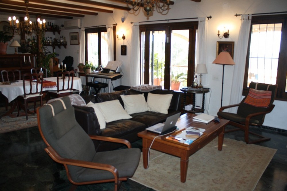 Javea vacation rental with Fragment of the living room