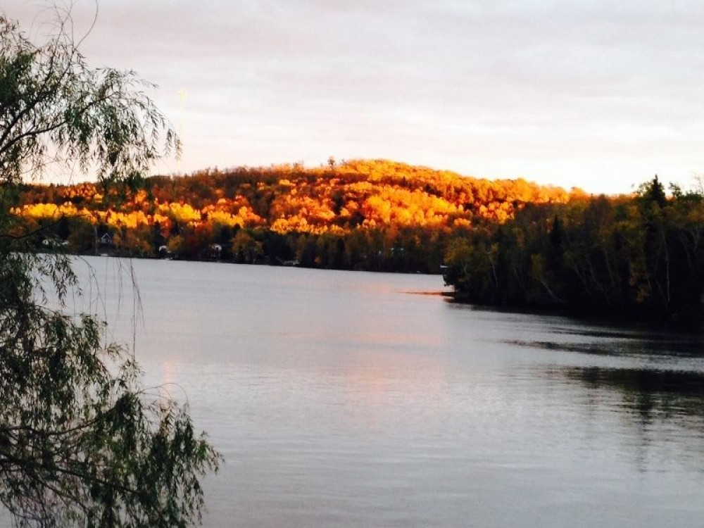 Parry Sound vacation rental with Cozy Commanda Lake Cottages in the Fall