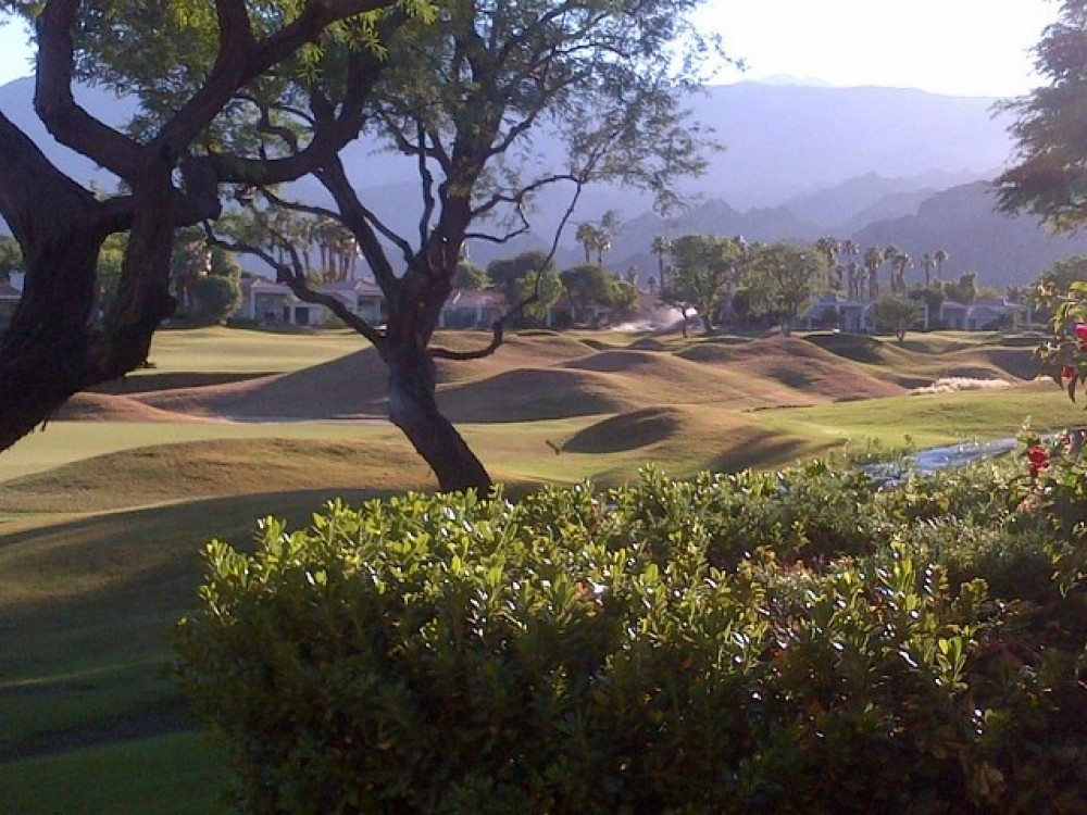 La Quinta vacation rental with Southwest Facing Mountain and Fairway views