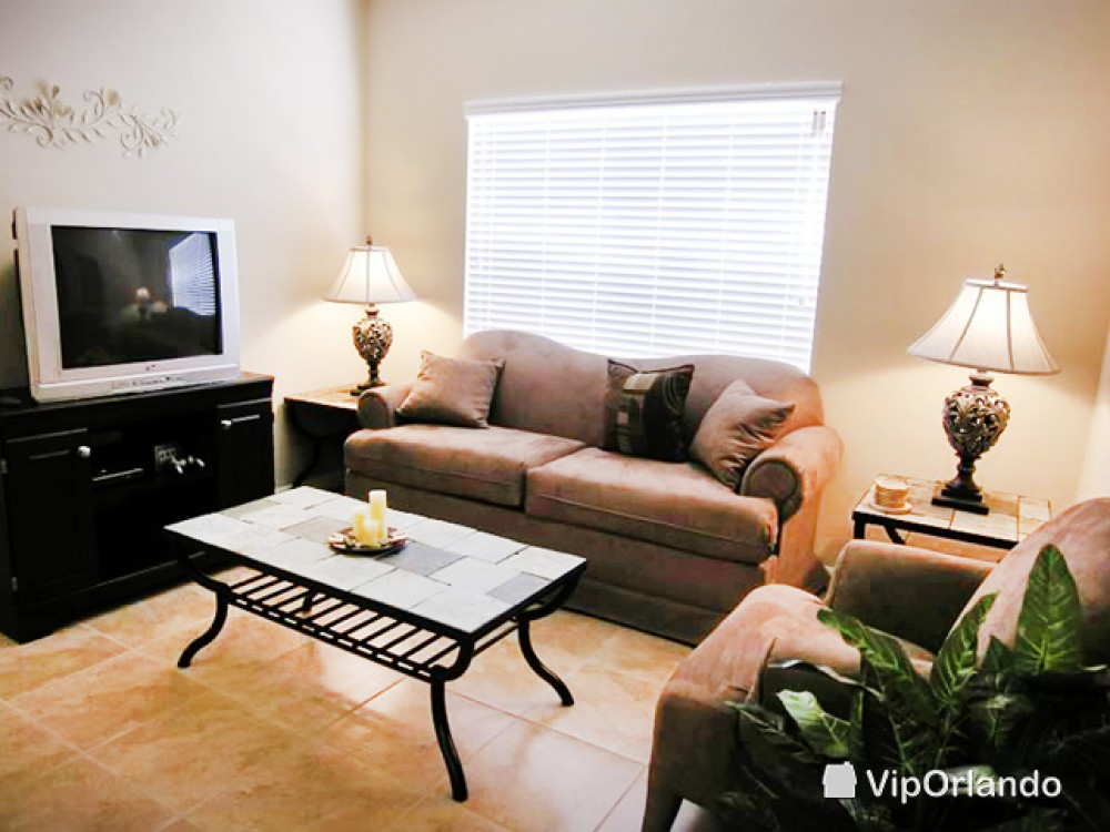 kissimmee vacation rental with Living room with comfy sofas and TV