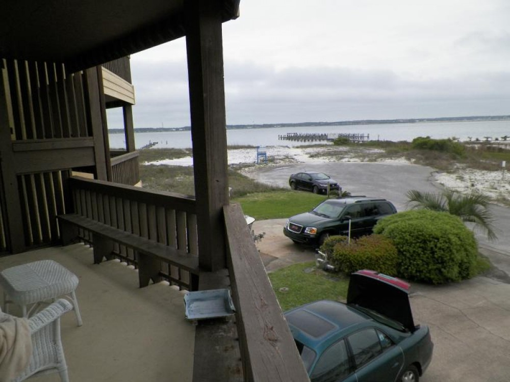 navarre beach vacation rental with View from balcony