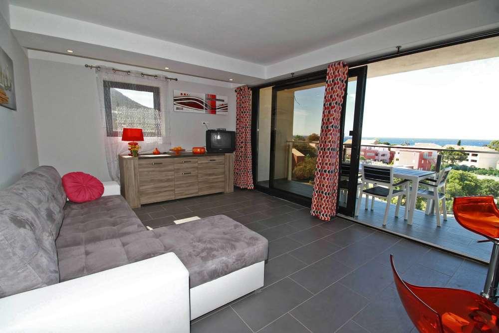 1 Bed Short Term Rental Apartment Algajola