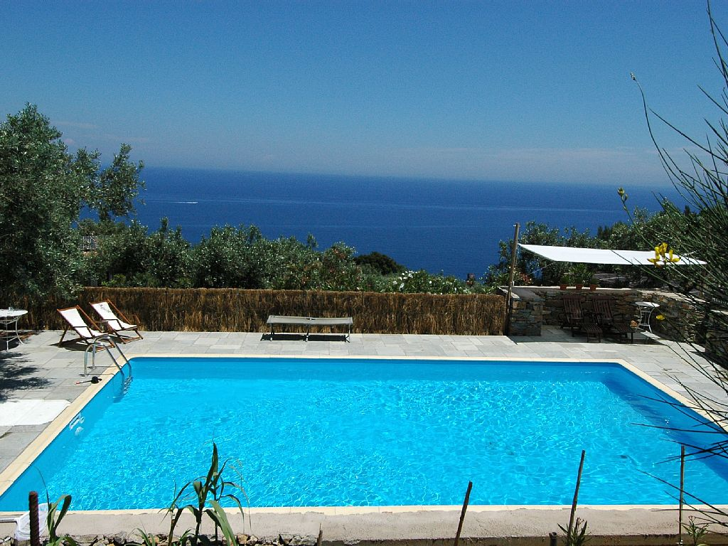 A luxurious heaven in the island of Skopelos with his particular beach