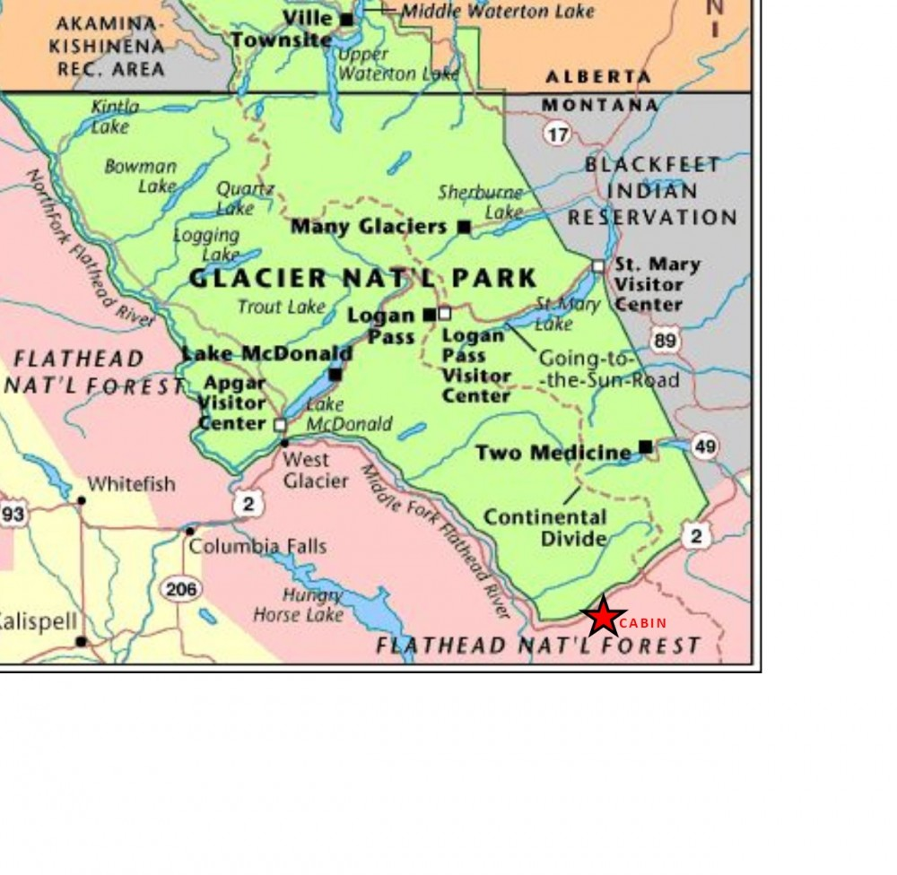 GLACIER NATIONAL PARK IS NEARBY