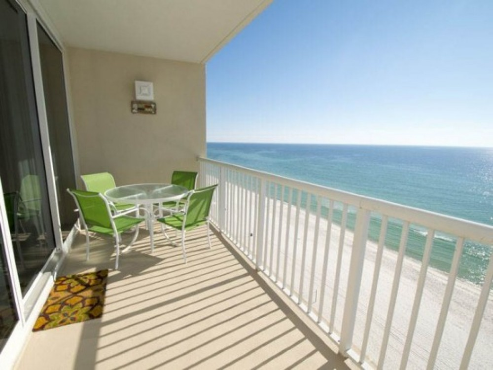 panama city beach vacation rental with Balcony w Gulf View Watch Dolphins!