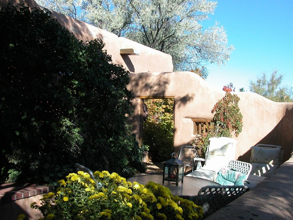 Adobe-walled Patio Airbnb Alternative Santa Fe New Mexico Rentals