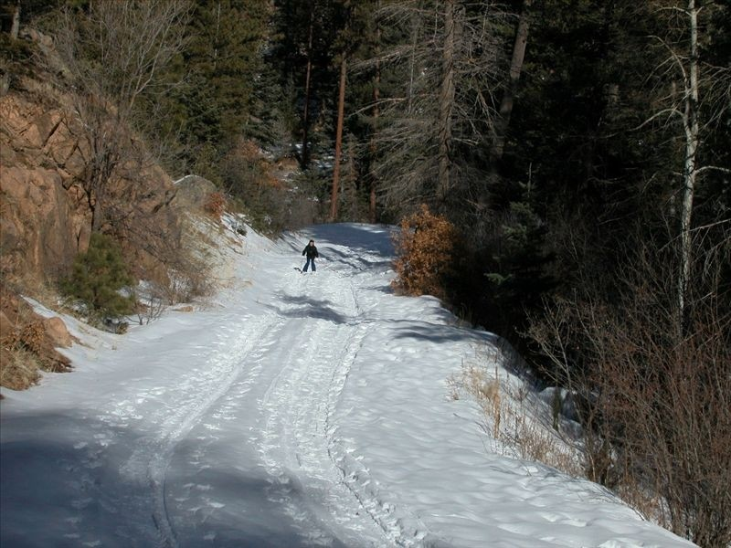 Cross-country ski out the door in winter santa fe vacation home