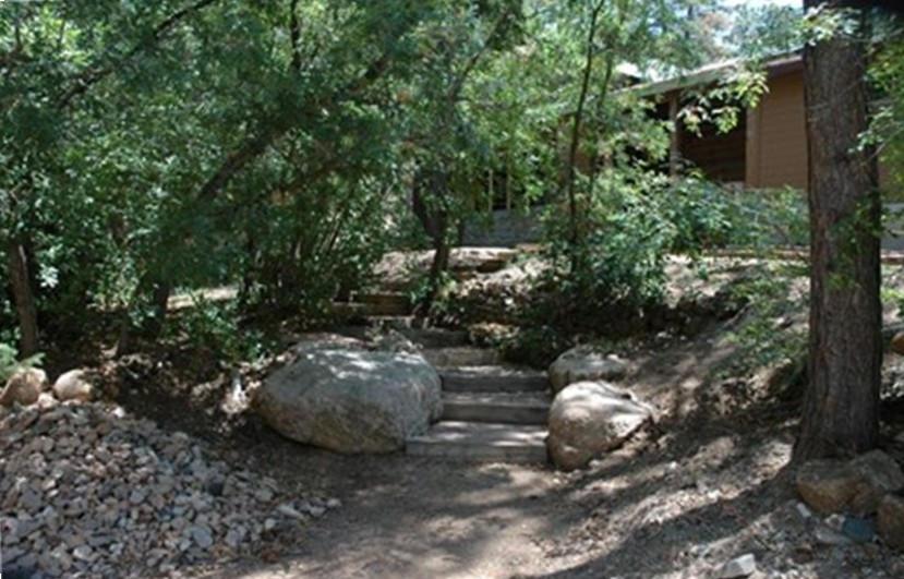 Steps to entrance Airbnb Alternative santa fe New Mexico Rentals