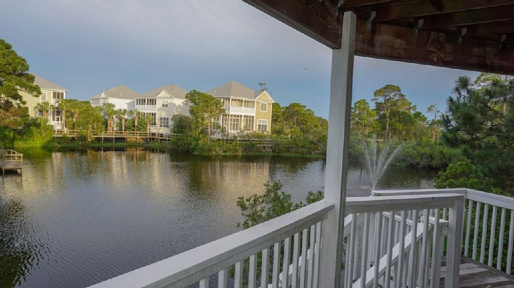 Cape San Blas vacation rental with Fish or Feed Turtles FROM back deck!