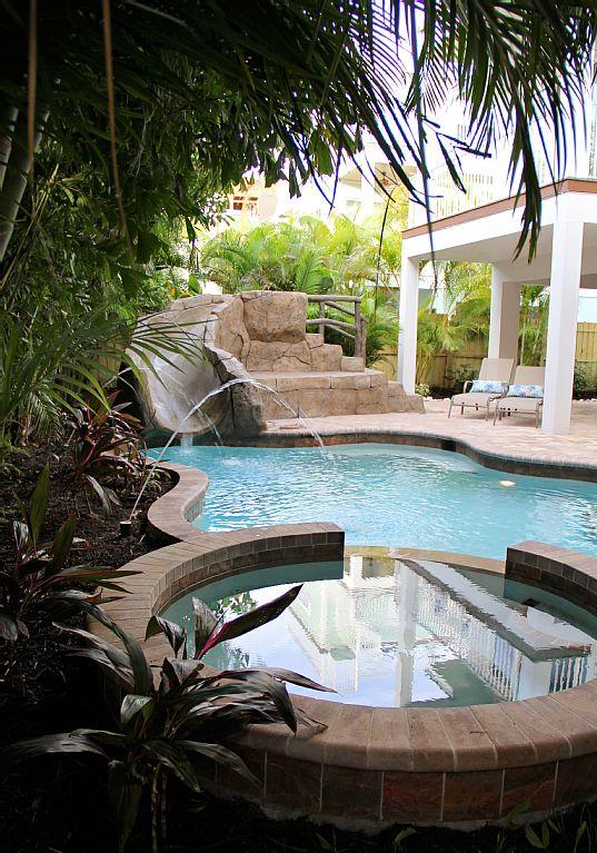 6/ 4.5 Heated Pool Spa Water Slide - Minute To The Beach!