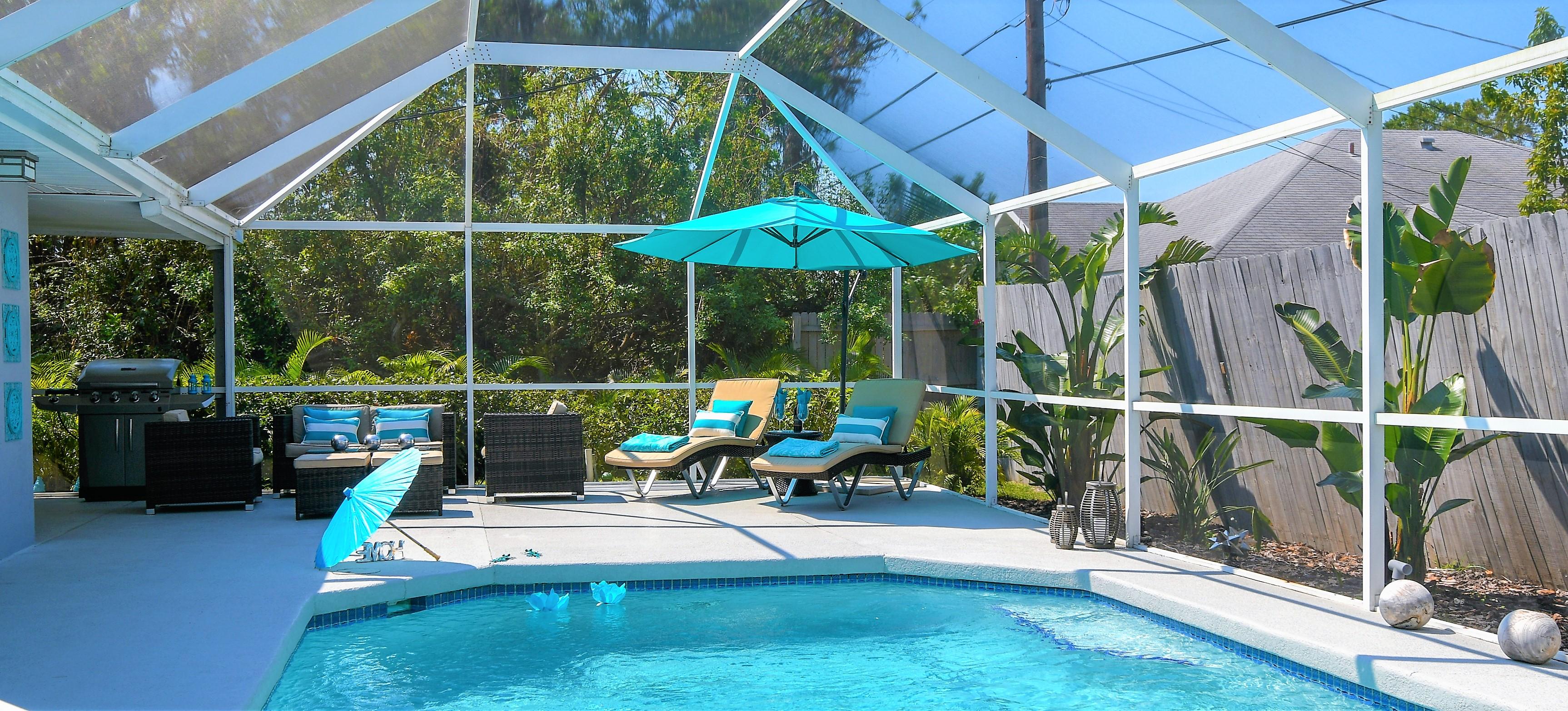 Contemporary Pool Villa II, Private Beach, Heated Pool, Wifi