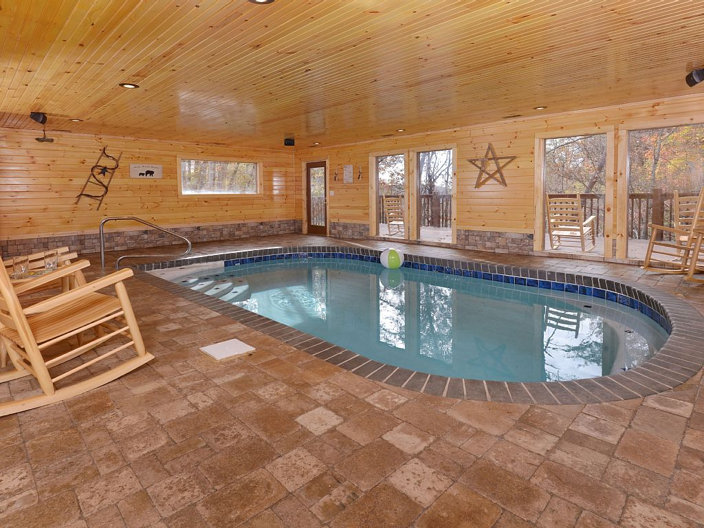 Indoor Swimming Pool!! Brand New Cabin!Guaranteed Best Rates!Sleeps 12 In Beds!I