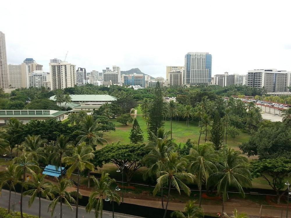 Waikiki vacation rental with View on Fort DeRussy, Waikiki, Diamond Head