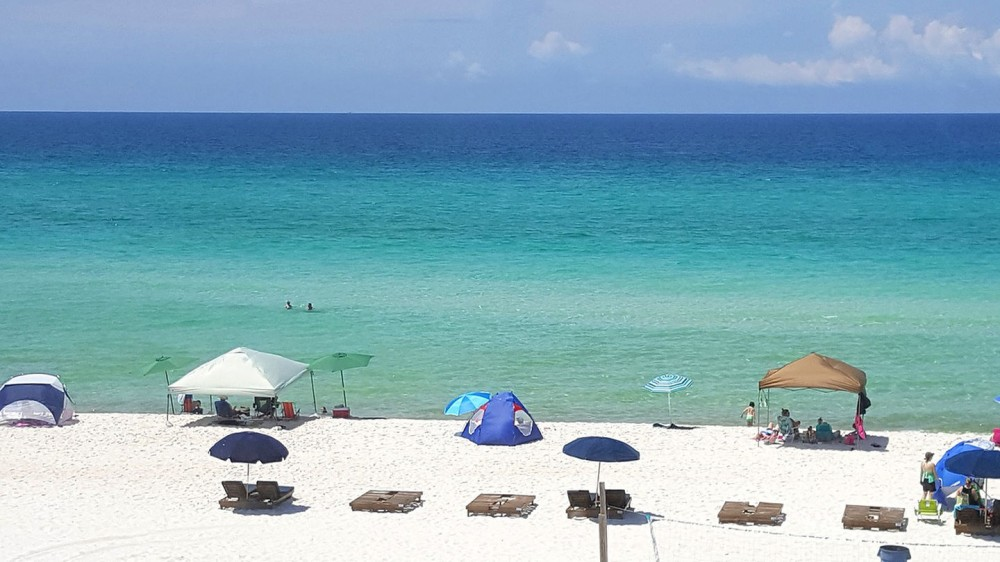 panama city beach vacation rental with Quiet Beach Area in Front of Condo