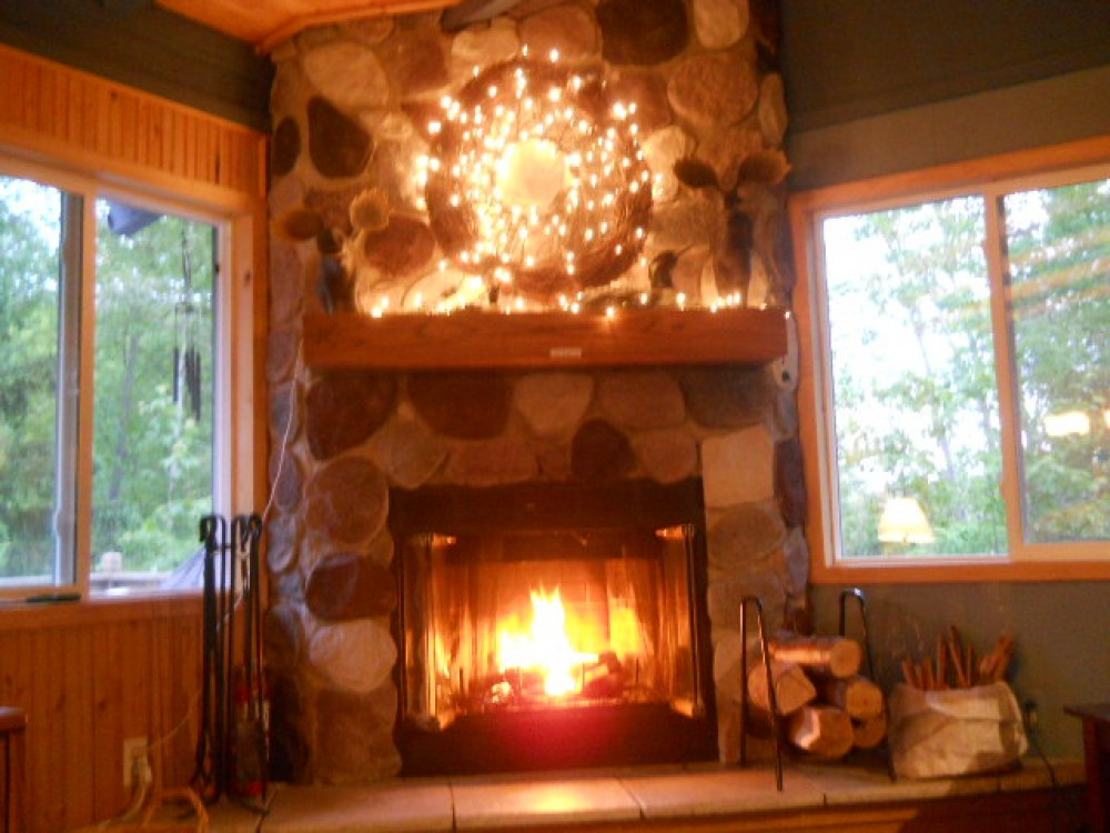 marquette vacation rental with Great fireplace with wood provided