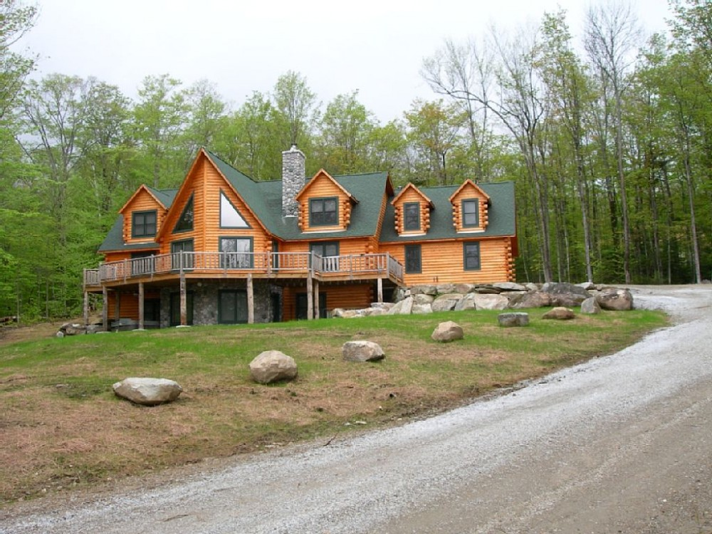 Ludlow Vermont Vacation Rental Fabulous Log Home Hot Tub