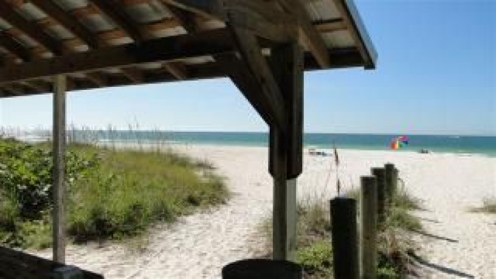 Holmes Beach vacation rental with Entrance to White Sandy Beach