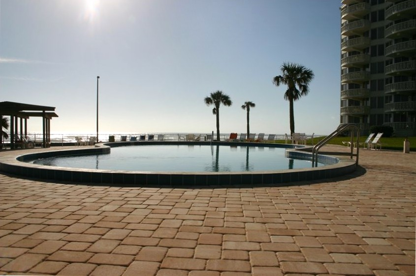 Direct access off balcony to the pool Airbnb Alternative new smyrna beach Florida Rentals