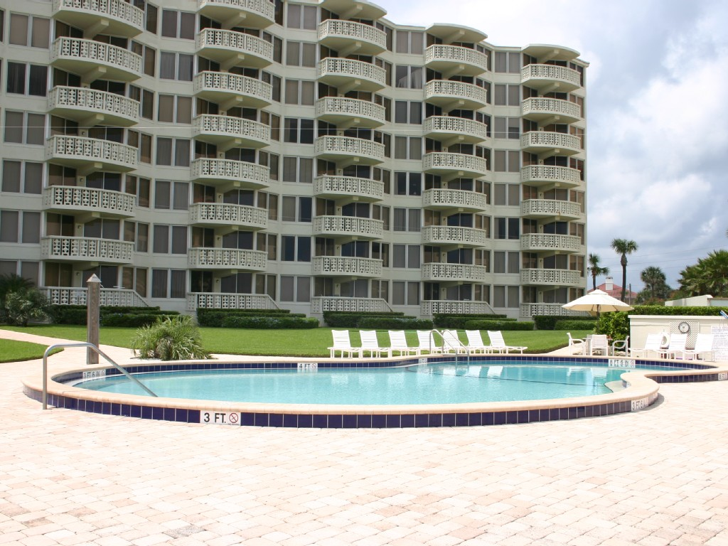 We Are on the 1st floor.  4th from the right new smyrna beach vacation home