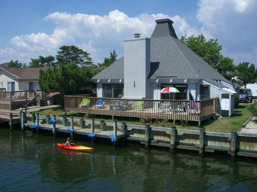 Ocean City vacation rental with Water View and Rear of House