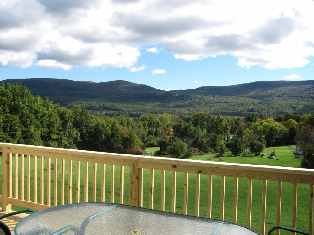 manchester vacation rental with View from the rear deck