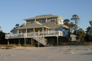 Gulf Front! Beautiful! Family friendly, large home with lots of deck space!