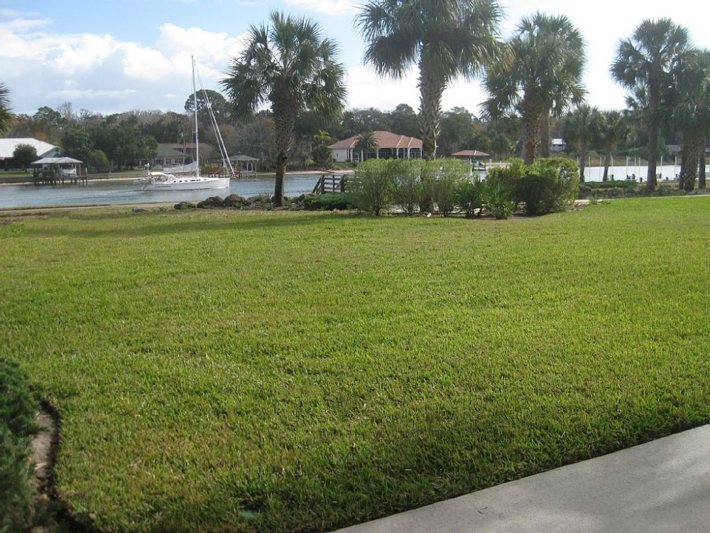 Palm Coast vacation rental with Our porch patio view of the Intracoastal Waterway