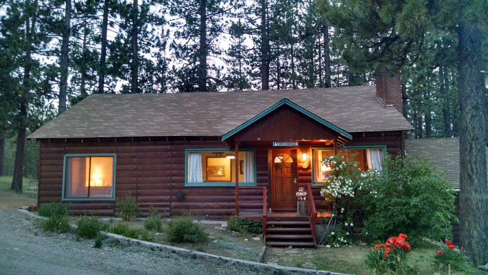 Big Bear Lake vacation rental with Front of Cabin