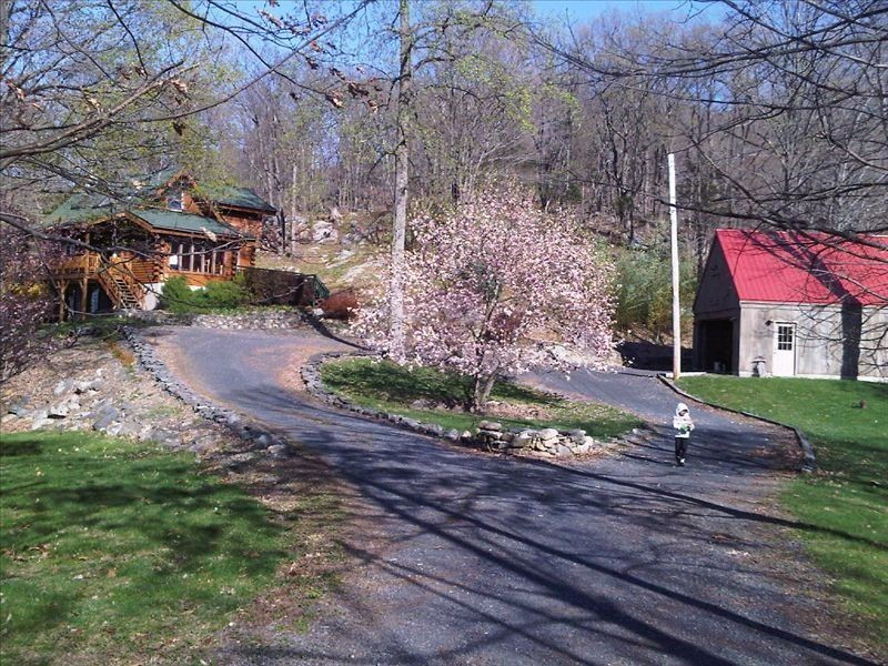Log Home Sits on Seven Mountain Acres on a Private Road - 75 mins drive from NYC