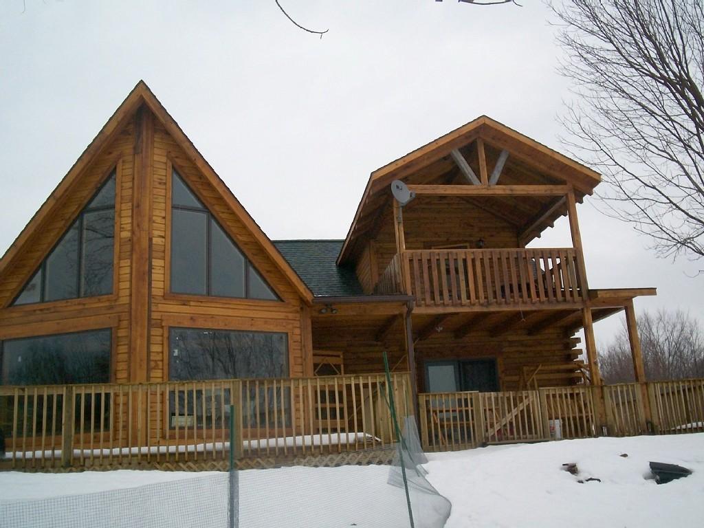 New 2006 Waterfront Log Home on Fawn Lake SALMON RIVERAREA ,SALMONWATERFALLS