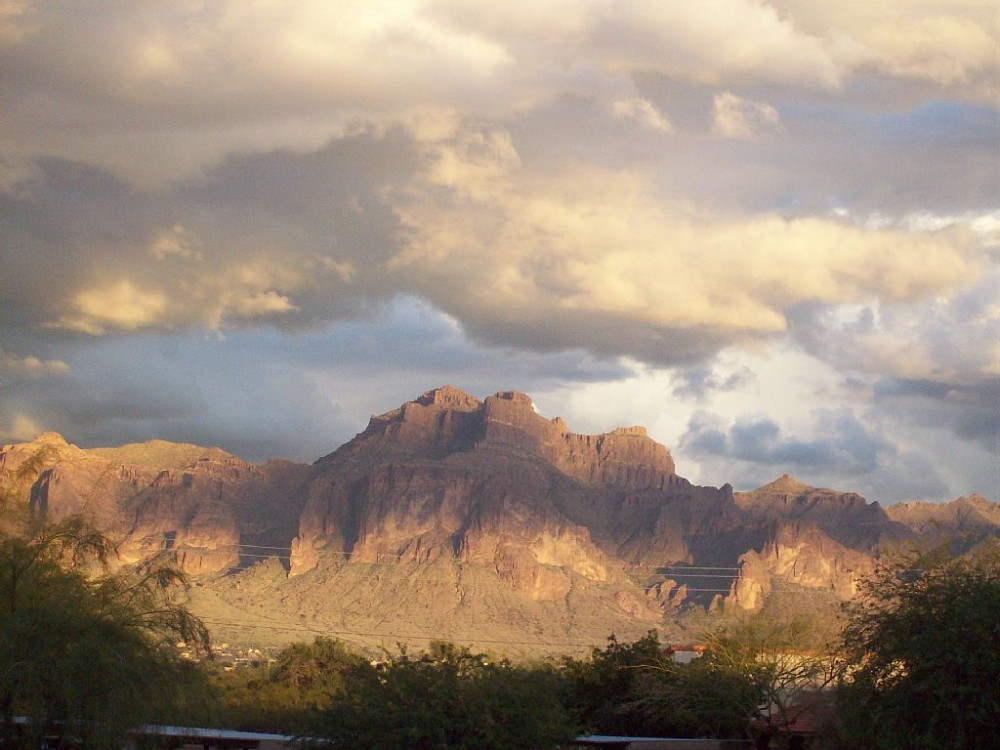 Apache Junction  vacation rental with view from patio