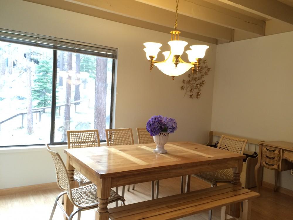 Dining area Airbnb Alternative Glenbrook Nevada Rentals