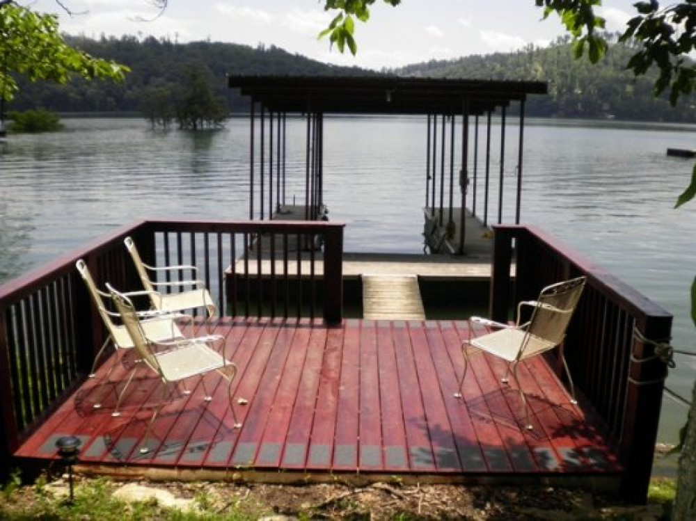 Sharps Chapel vacation rental with Wonderful Lakefront Sundeck