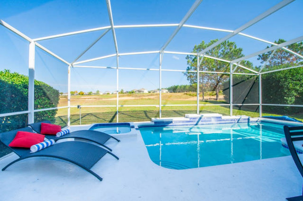 Davenport vacation rental with Pool with Contemporary Furniture overlooking