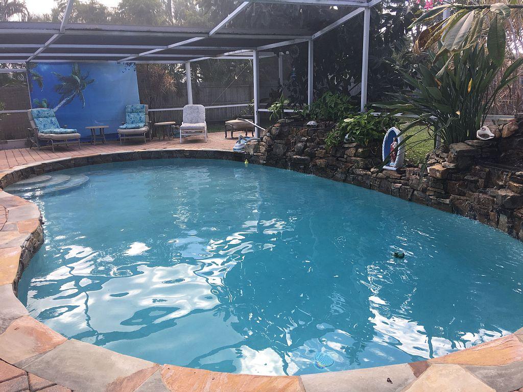 Solar heated salt pool home in Sandpiper Bay Club Med