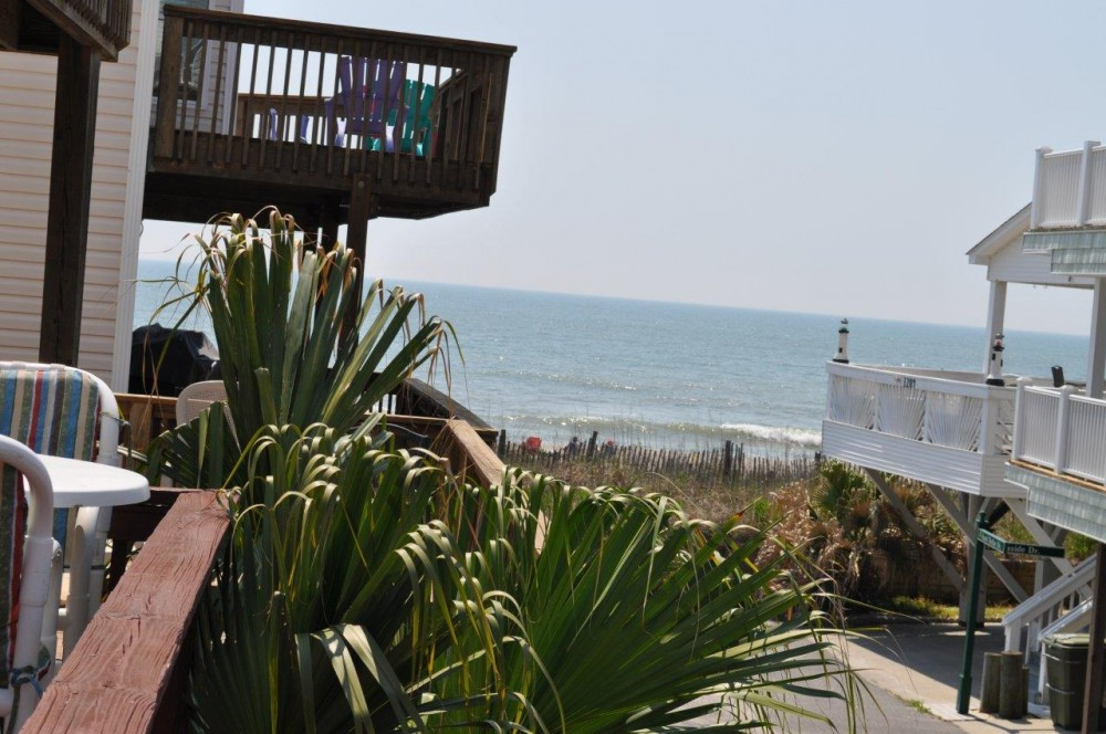 Myrtle Beach vacation rental with View from deck