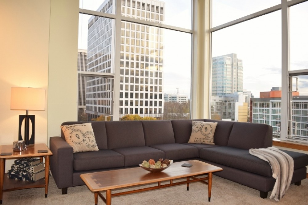Portland vacation rental with 6th Floor Corner View Luxyry in the Lloyd