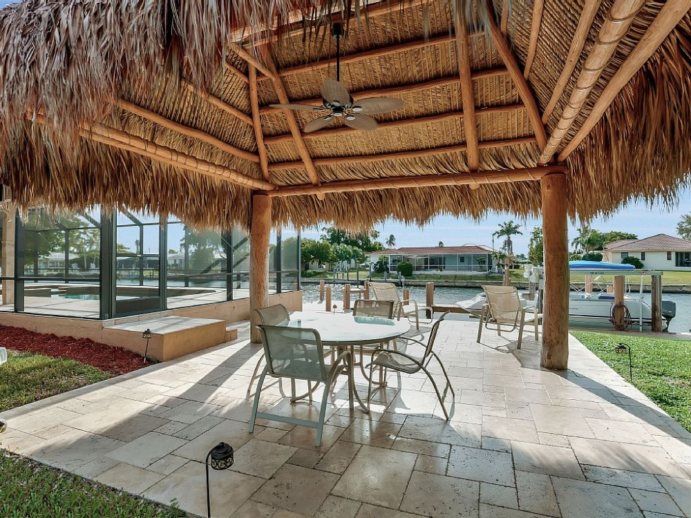 Marco Island vacation rental with Tiki Hut with view of the Canal