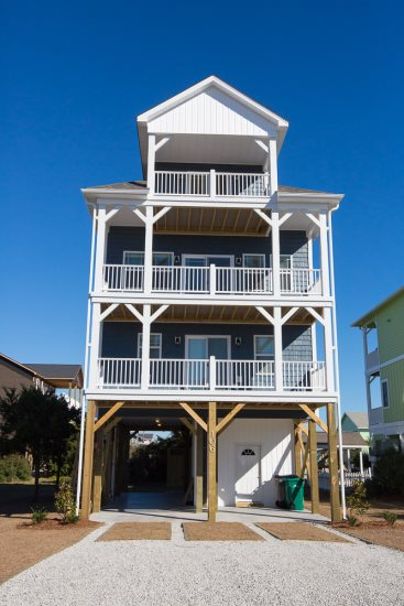 This wonderful beach home has a wonderful sunset view and is just a couple doors down from the beach access