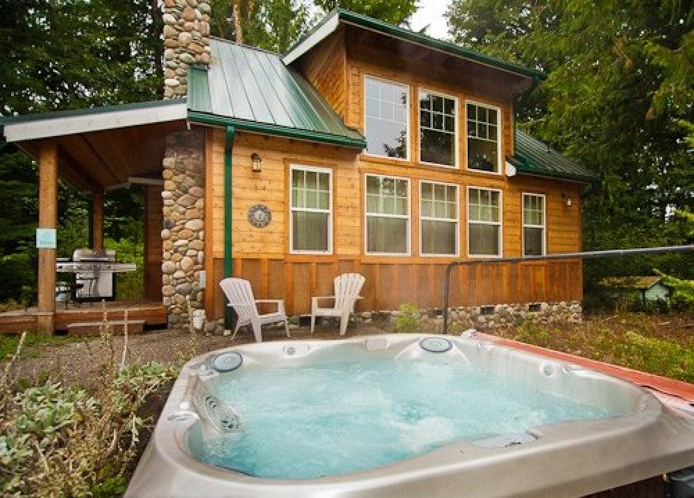 Glacier vacation rental with Relax in the hot tub