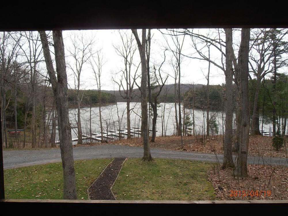 Six Bedroom Lakefront Log Home With A Dock Slip On Deep Creek Lake