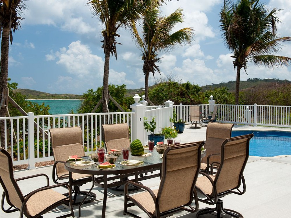 Christiansted vacation rental with Dining inside or outside, covered or sunny!