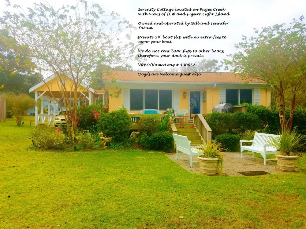 Wilmington vacation rental with We do not rent slips to other boaters or charge extra to moor your watercraft