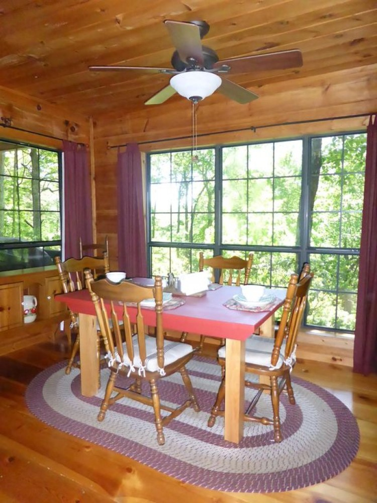 2 bedroom 2 bathroom dog friendly real log cabin with mountain View