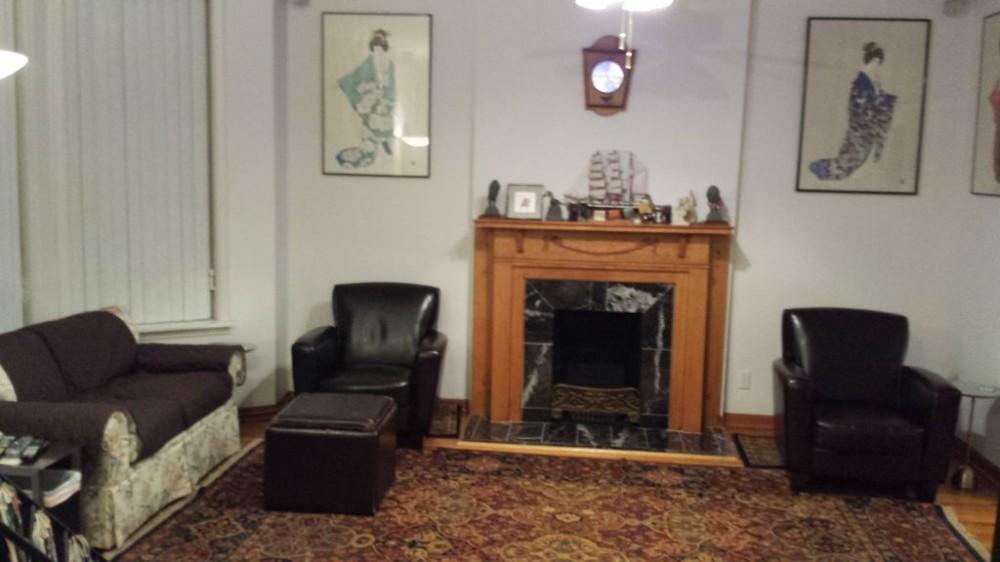 Seating area living room Airbnb Alternative Chicago Illinois Rentals