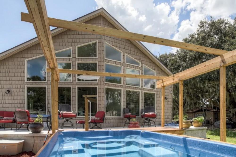 Leesburg vacation rental with Swim spa behind home